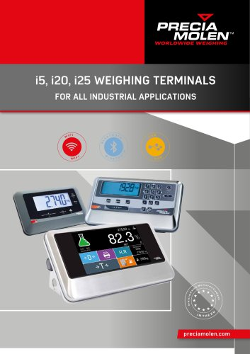i5, i20, i25 WEIGHING TERMINALS FOR ALL INDUSTRIAL APPLICATIONS