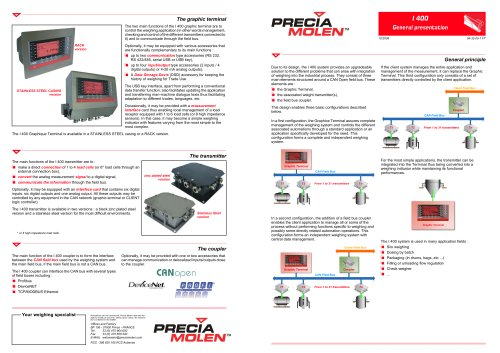 Load indicators and transmitters I 400