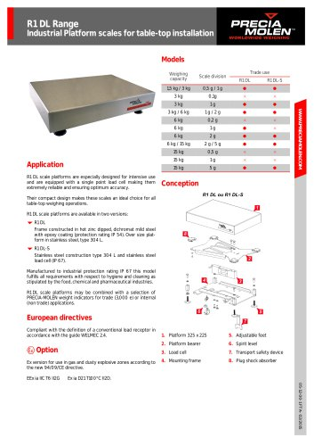 Platform scales R1 DL / R1 DL-S Range