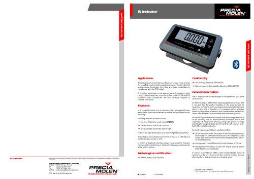Weighing indicator i5