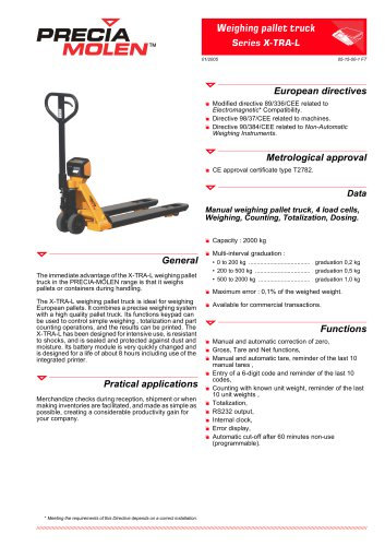 Weighing Pallet Truck X-TRA-L