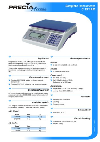 Weighing scale C 131 AM
