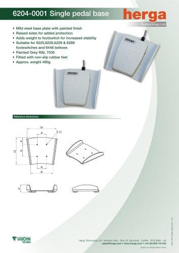 6204-0001 Single pedal base