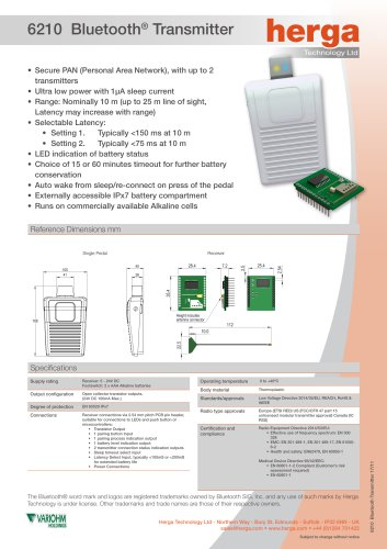 6210 Bluetooth® Transmitter