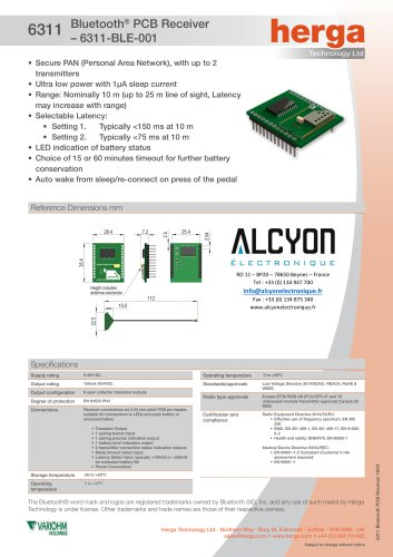 6311 Bluetooth® PCB Receiver – 6311-BLE-001