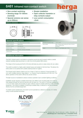 6461 Infrared non-contact switch