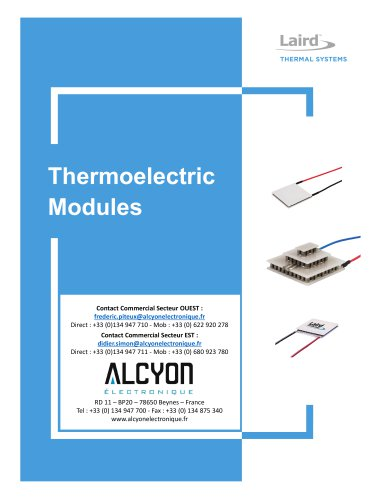 LAIRD TEM Thermoelectric-Modules-Catalog (ALCYON Electronique 01 30 94 77 00)