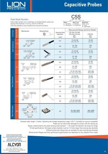 LION PRECISION Catalogue général sondes capacitives (ALCYON Electronique 01 34 94 77 00)
