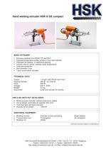 Hand welding extruder HSK10 DE compact