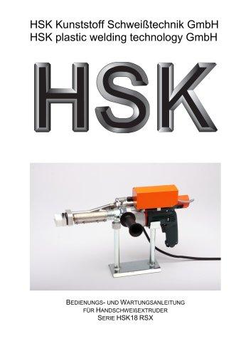 HSK plastic welding technology GmbH SERIE HSK18 RSX