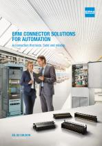 ERNI CONNECTOR SOLUTIONS FOR AUTOMATION