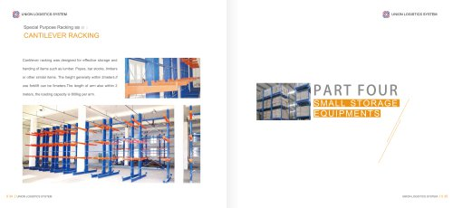 cantilever rack system / for long items