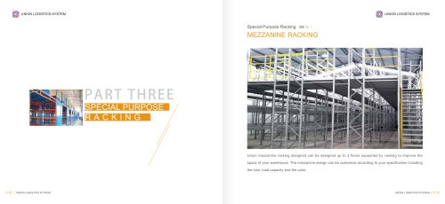 industrial mezzanine with racking system