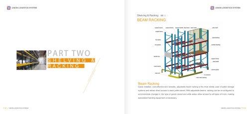 pallet rack system / for heavy loads / adjustable
