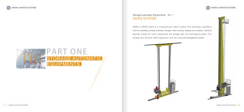 Union ASRS System Automatic Warehouse Racking System