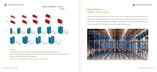 Union Durable Warehouse Drive in Pallet Rack