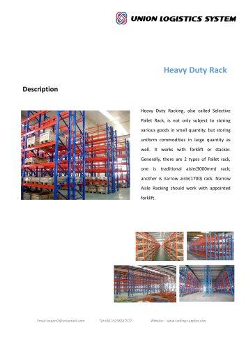 Union Industrial Warehouse Steel Q235 Heavy Duty Storage Pallet Rack Manufacture
