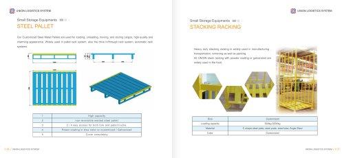 Union Powder coating stackable post pallet rack