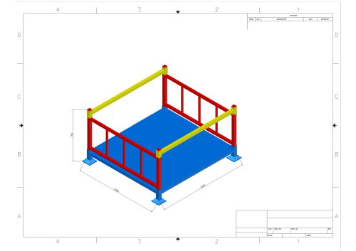Union Stacking Rack Drawing