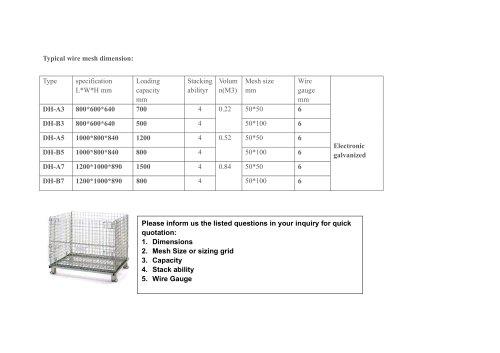 Union Storage Parts Wire Mesh Box Logistics System