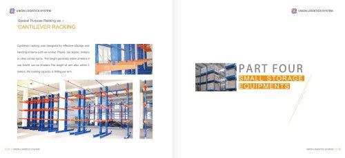 Union wood plank storage cantilever rack