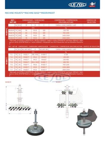 MACHINE MOUNTS -- MACHINE BASE -- M600R/M600T