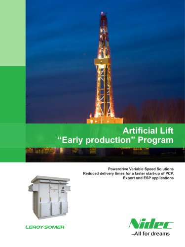 """Artificial Lift """"Early production"""" Program"""