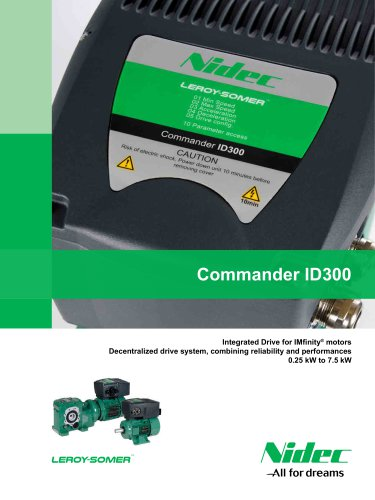 Commander ID300: Integrated Drive for IMfinity® motors