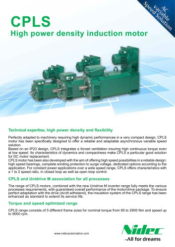 CPLS high power density induction motor