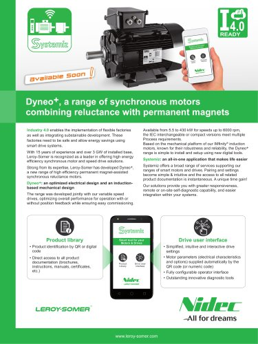 Dyneo+, a range of synchronous motors combining reluctance with permanent magnets