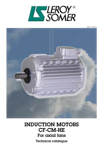 Induction motors for axial fans