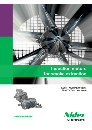 Induction motors for smoke extraction