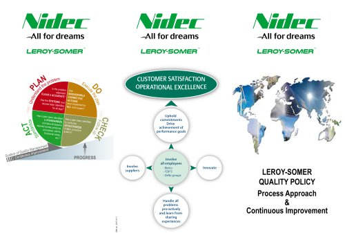 LEROY-SOMER QUALITY POLICY