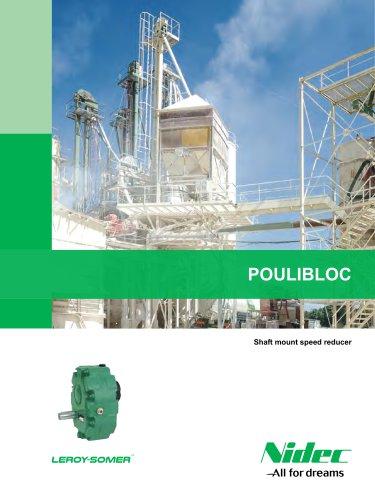 Poulibloc shaft mount speed reducer