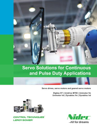 Servo solutions for continuous and pulse duty applications
