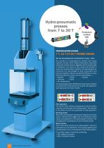 Hydropneumatic presses