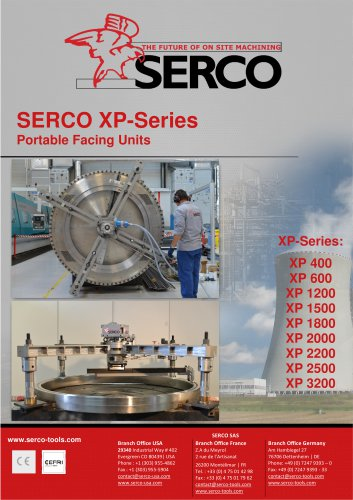 Portable Facing Units - XP Series - SERCO