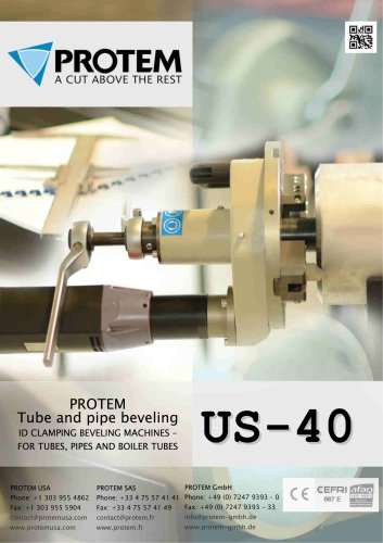 PROTEM - US40 - Tube and pipe beveling machine