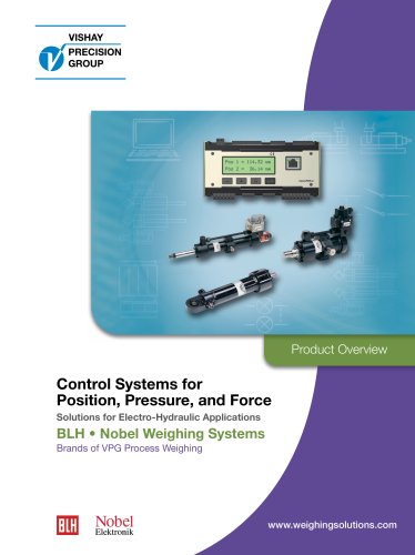 Control Systems for  Position, Pressure, and Force