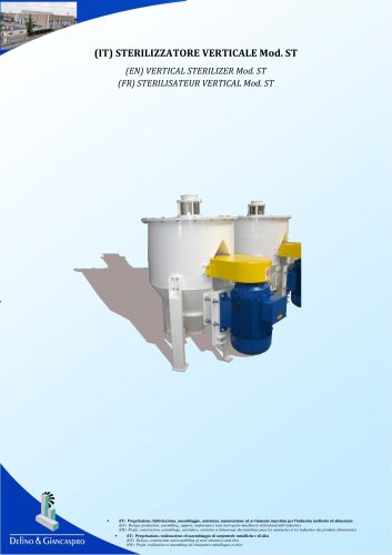 VERTICAL STERILIZER (ST Model)