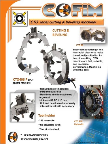 CTO Series Cutting and Beveling Machines