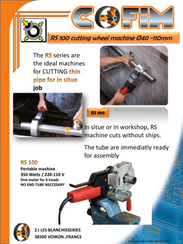 RS100 wheel cutting