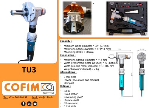 TU3 - Pipe Beveling Machine Internal Clamping