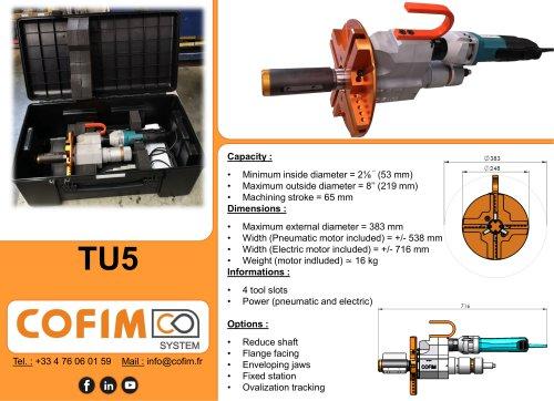TU5 - Pipe Beveling Machine Internal Clamping
