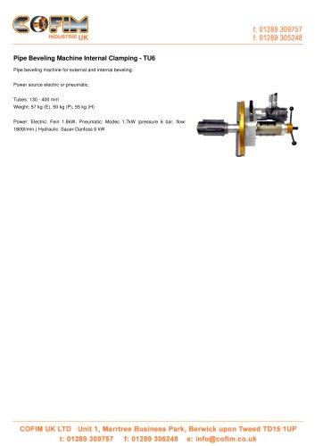 TU6 Pipe Beveling Machine Internal Clamping