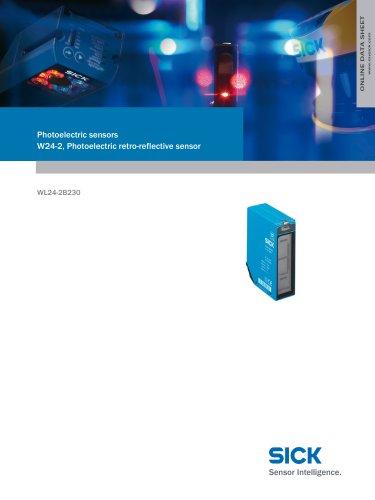 Photoelectric sensors W24-2, Photoelectric retro-reflective sensor