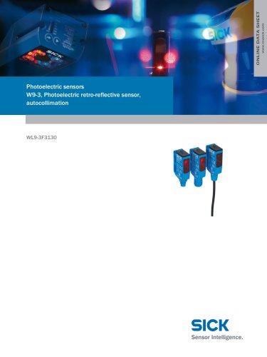 Photoelectric sensors W9-3, Photoelectric retro-reflective sensor, autocollimation