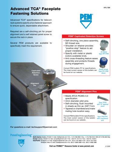 AdvancedTCA® Faceplate Fastening