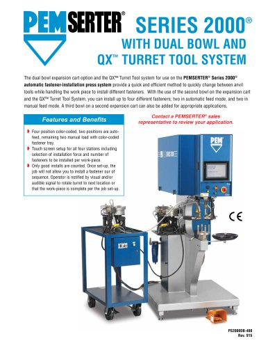 PEMSERTER Series 2000 Press with Dual Bowl and QX? Turret Tool System