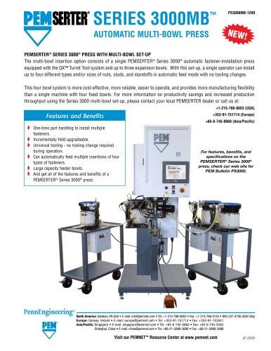 PEMSERTER Series 3000MB Automatic Multi-Bowl Press